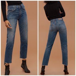New GRLFRND Helena High Rise Straight Leg Jeans